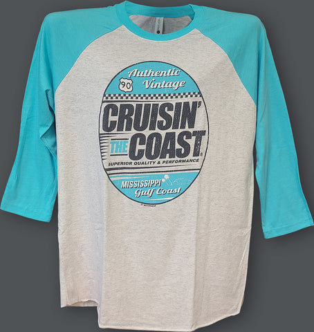 2020 Cruisin' The Coast Baseball 3/4 Sleeve
