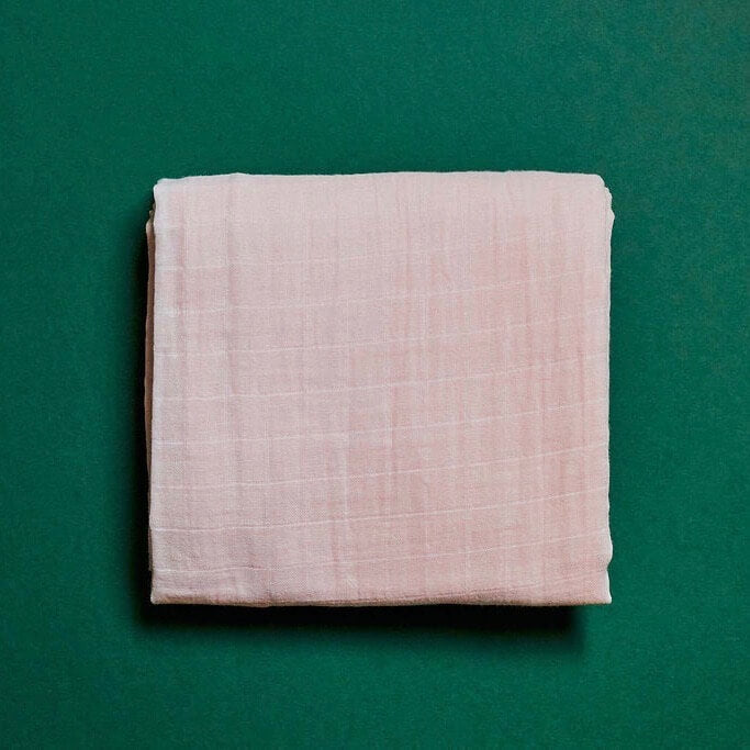 Organic Cotton Muslin Swaddle - Blush