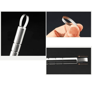 Multifunctional Professional Engraved Pen Stainless Steel Pen Shavings Eyebrows