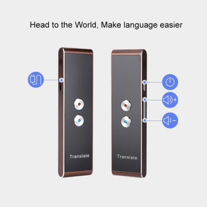 Portable Smart Voice Speech Translator Two-Way Real Time 30 Multi-Language Translation For Learning Travelling Business Meeting