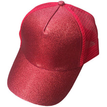 Load image into Gallery viewer, Glitter Ponytail Baseball Cap