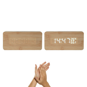 Digital LED Wood Desk Clock