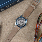 Vintage Style Calfskin Leather Watch Strap - Light Brown - GS&W