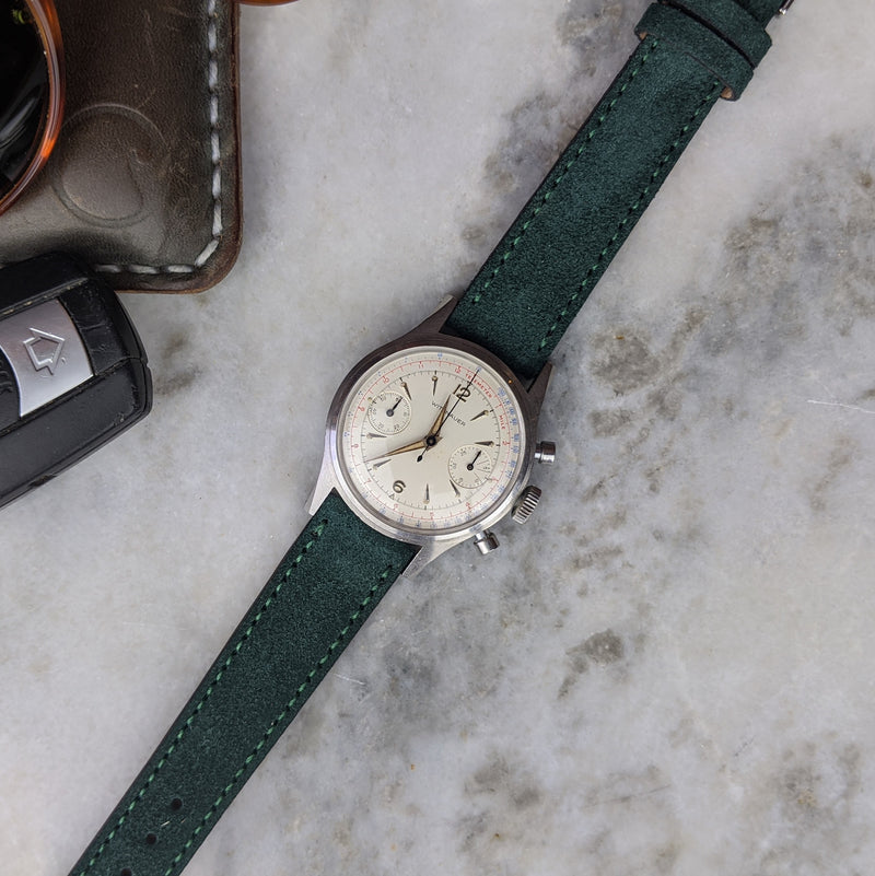 Suede Leather Watch Strap - Green - GS&W