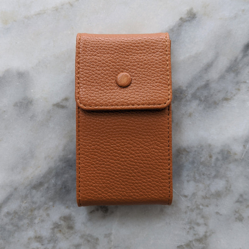 Calfskin Leather Watch Pouch - Light Brown - GS&W