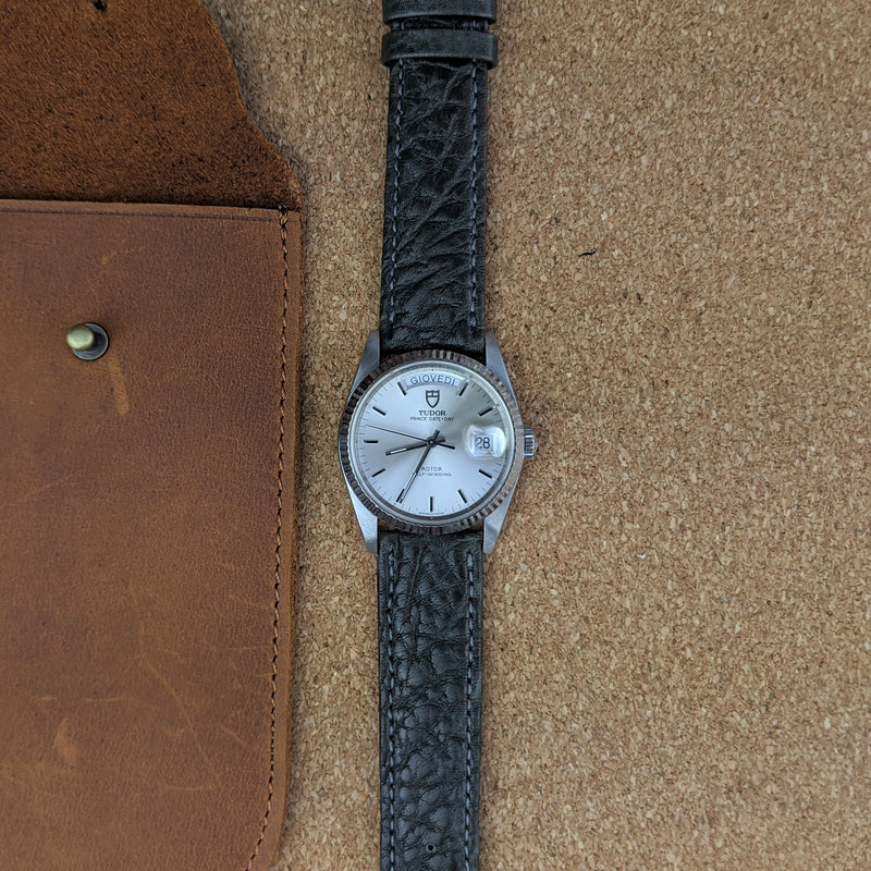 Calfskin Leather Watch Strap - Grey - GS&W