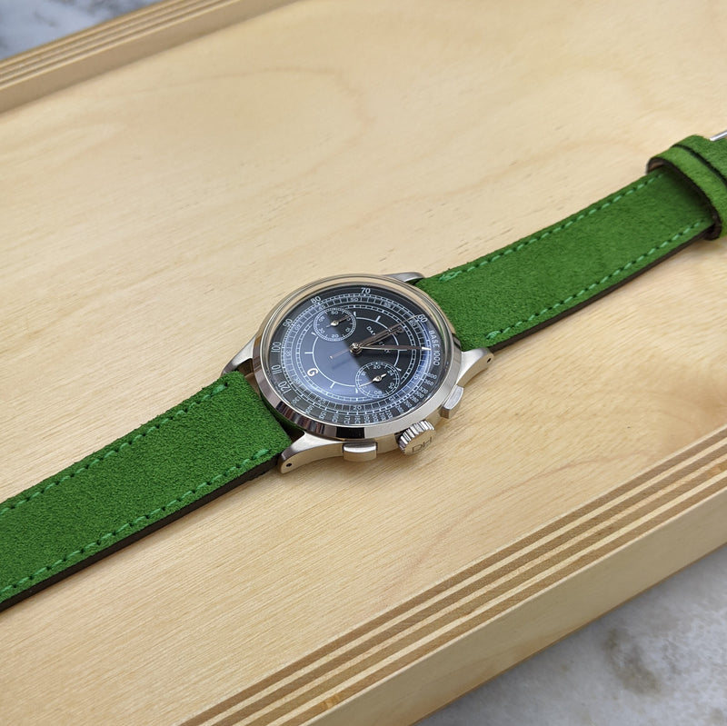 Suede Leather Watch Strap - Lime - GS&W