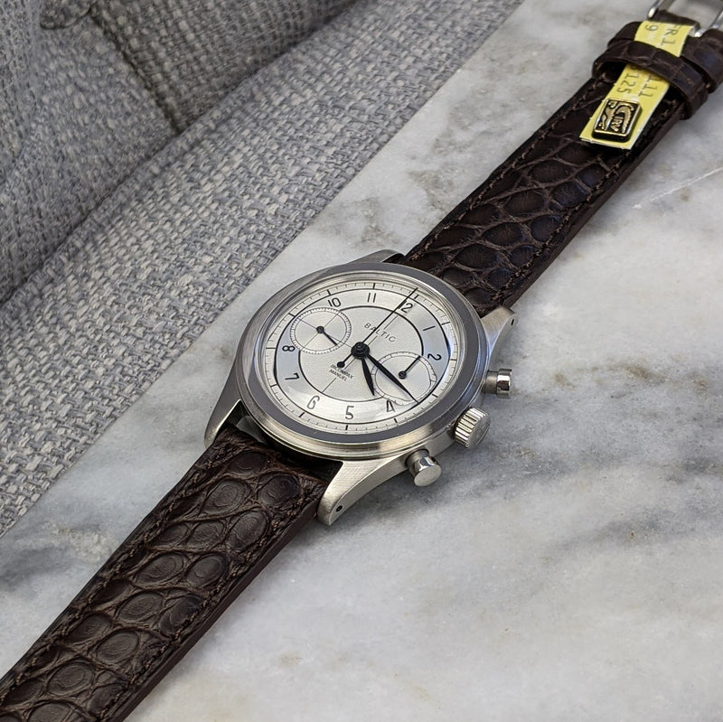 Louisiana Alligator Leather Watch Strap - Dark Brown - GS&W