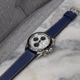 Goatskin Leather Watch Strap - Navy - GS&W
