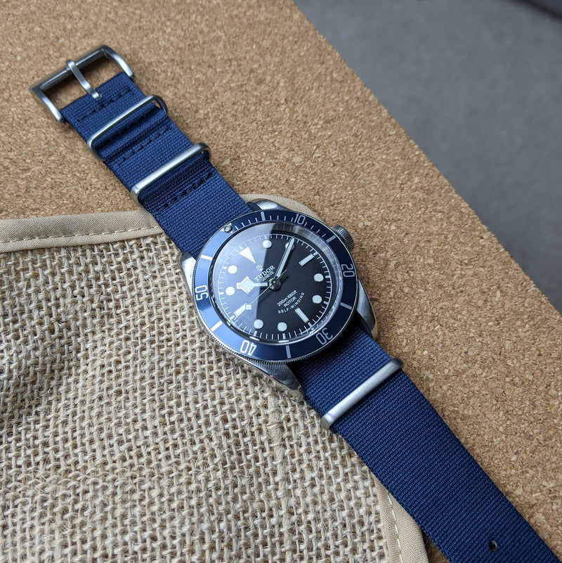 Nylon NATO Watch Strap - Navy - GS&W