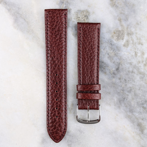 Calfskin Leather Watch Strap - Maroon - GS&W