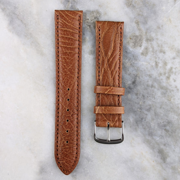 Calfskin Leather Watch Strap - Mid Brown - GS&W