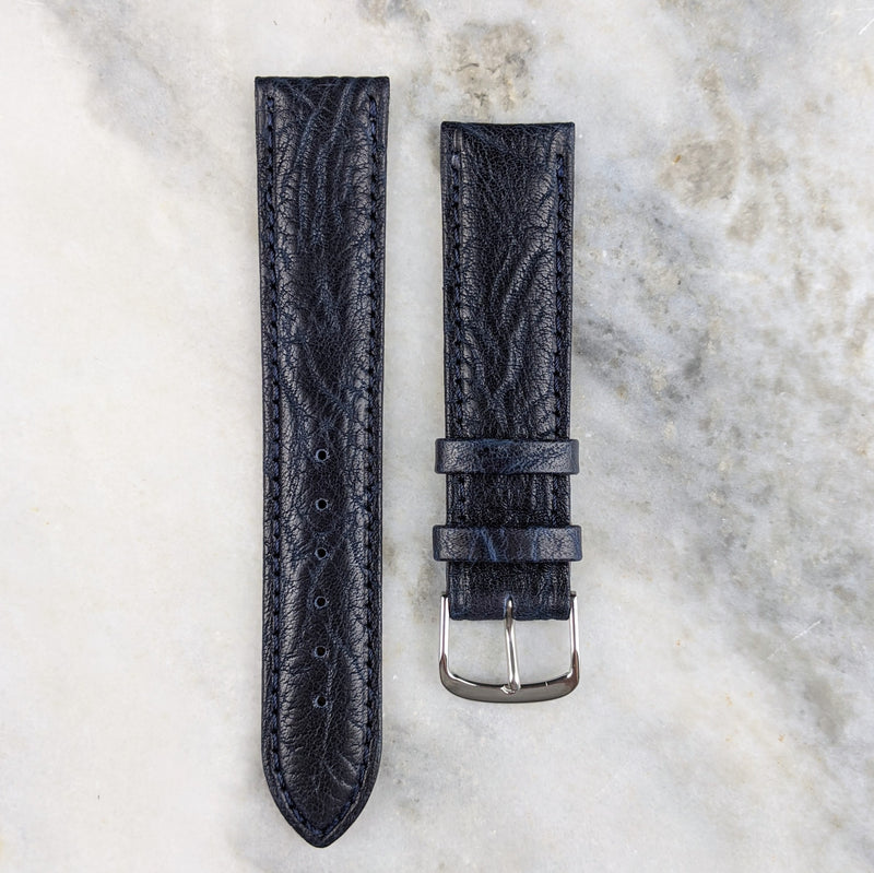 Calfskin Leather Watch Strap - Navy - GS&W