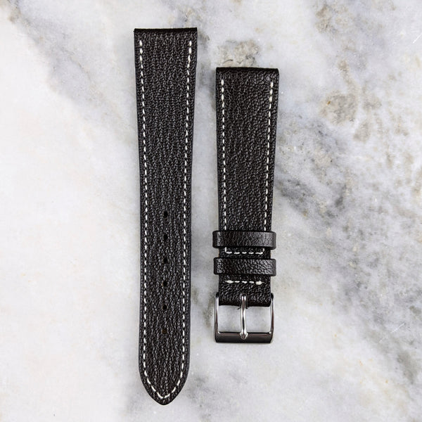 Goatskin Leather Watch Strap - Dark Brown - GS&W