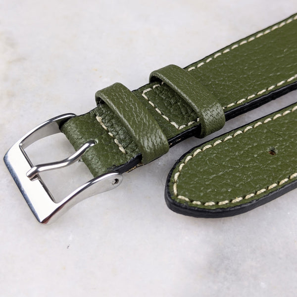 Goatskin Leather Watch Strap - Green - GS&W