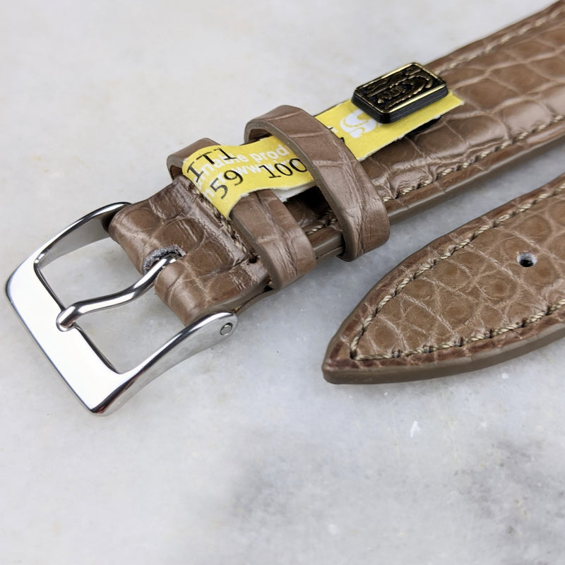 Louisiana Alligator Leather Watch Strap - Taupe - GS&W