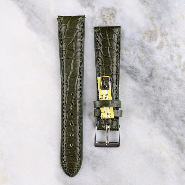 Louisiana Alligator Leather Watch Strap - Green - GS&W