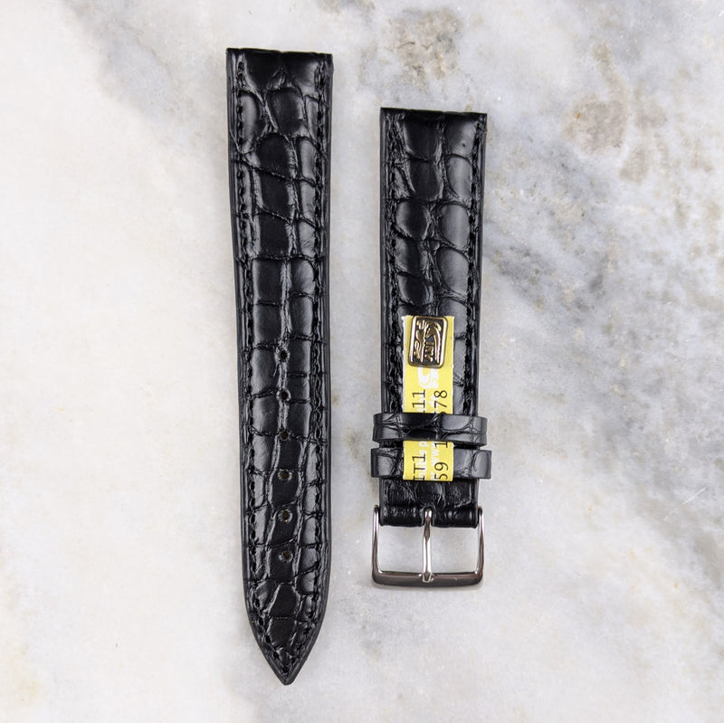 Louisiana Alligator Leather Watch Strap - Black - GS&W