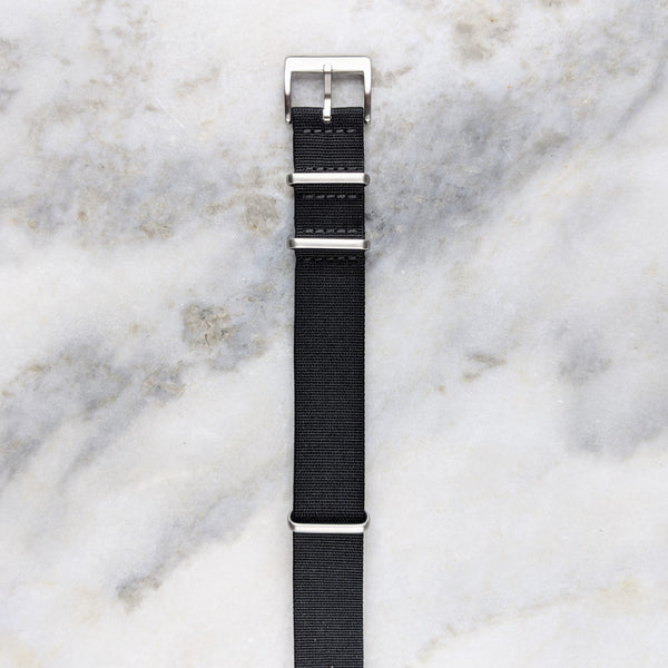 Nylon NATO Watch Strap - Black - GS&W