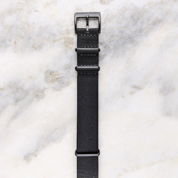 Nylon NATO Watch Strap - Black PVD - GS&W