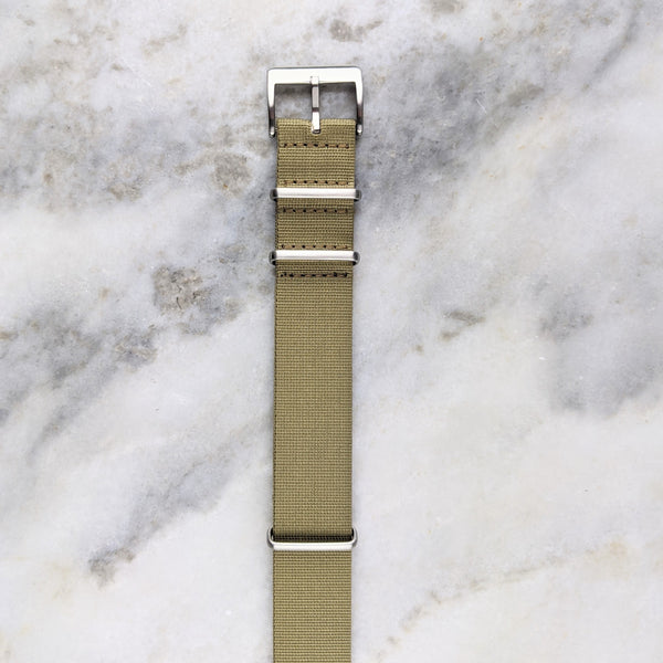 Nylon NATO Watch Strap - Beige - GS&W