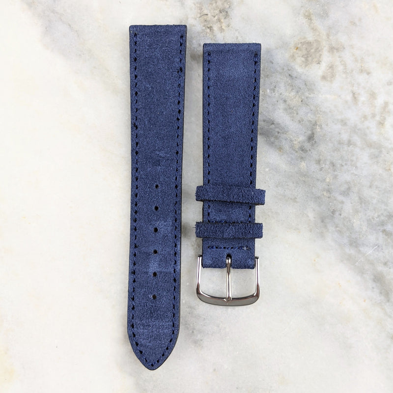 Suede Leather Watch Strap - Navy - GS&W