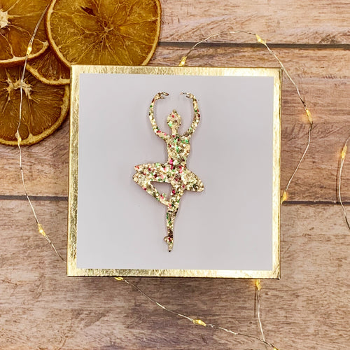 Broche Danseuse Paillettes