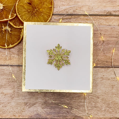 Broche Flocon de Neige Paillettes