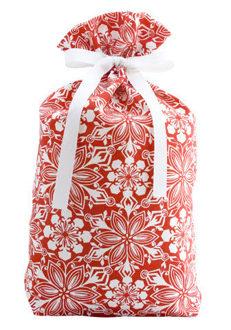 crimson frost cloth gift bag