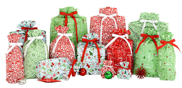 merry holiday set cloth gift bag
