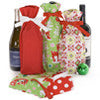 holiday wine bag set