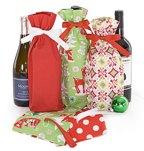 holiday wine bag set cloth gift bag