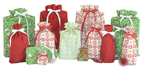 joyful holiday set cloth gift bag