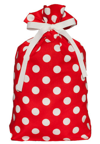 dottie red cloth gift bag
