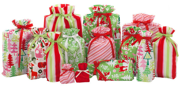 festive holiday set cloth gift bag