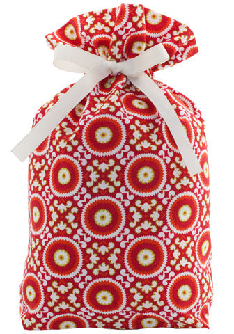 merry & bright cloth gift bag