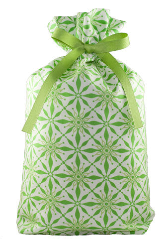 radiant in green cloth gift bag