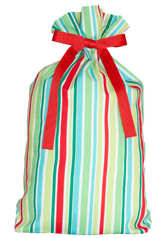 retro stripes cloth gift bag