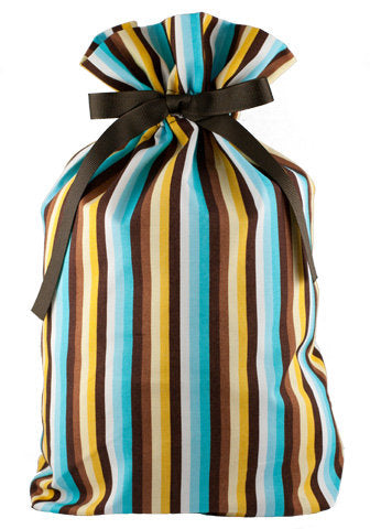ORGANIC! snappy stripes cloth gift bag