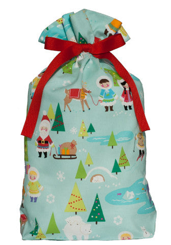 snow day cloth gift bag