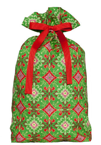 splendor green cloth gift bag