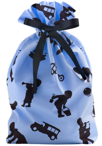boys play cloth gift bag