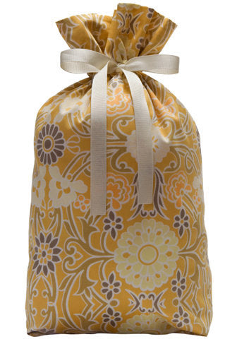 tracery in gold cloth gift bag