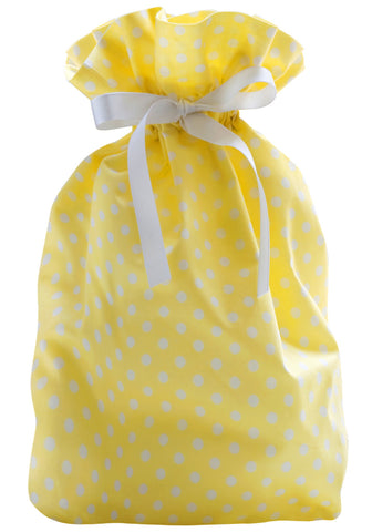 dottie mini pale yellow cloth gift bag