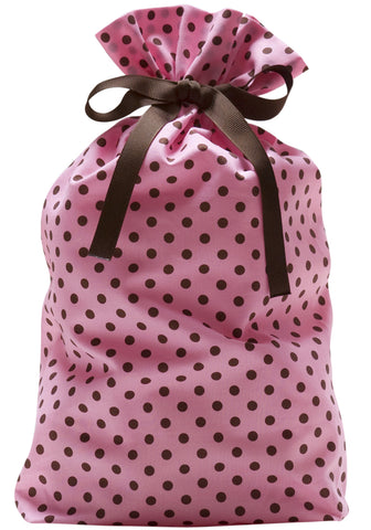 dottie mini pink + cocoa cloth gift bag