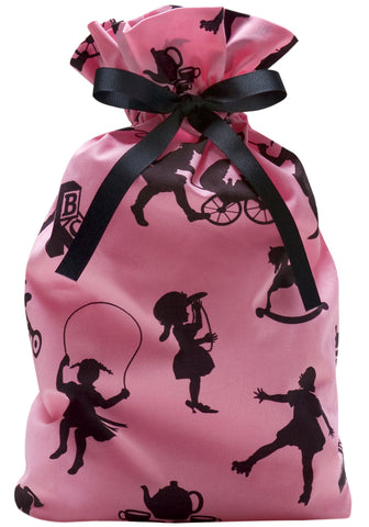 girls play cloth gift bag