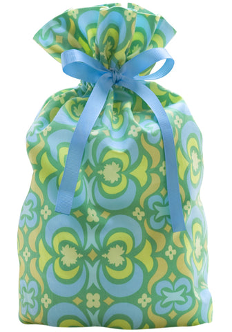 kaleidoscope green cloth gift bag