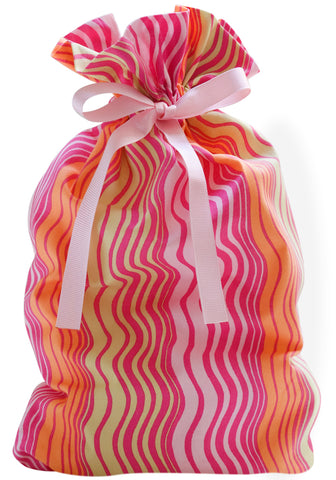 ripple stripe cloth gift bag