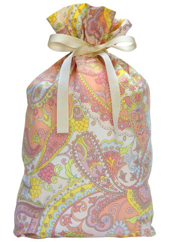spring paisley cloth gift bag