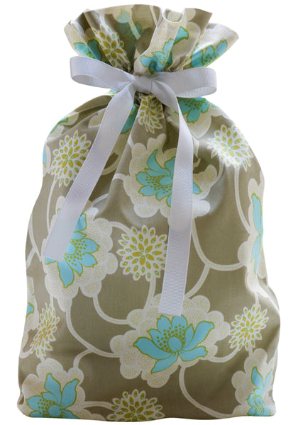zen blossoms cloth gift bag